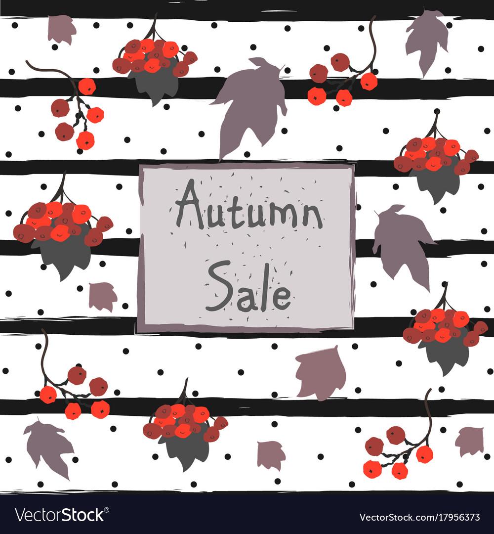 Autumn sale advertising card