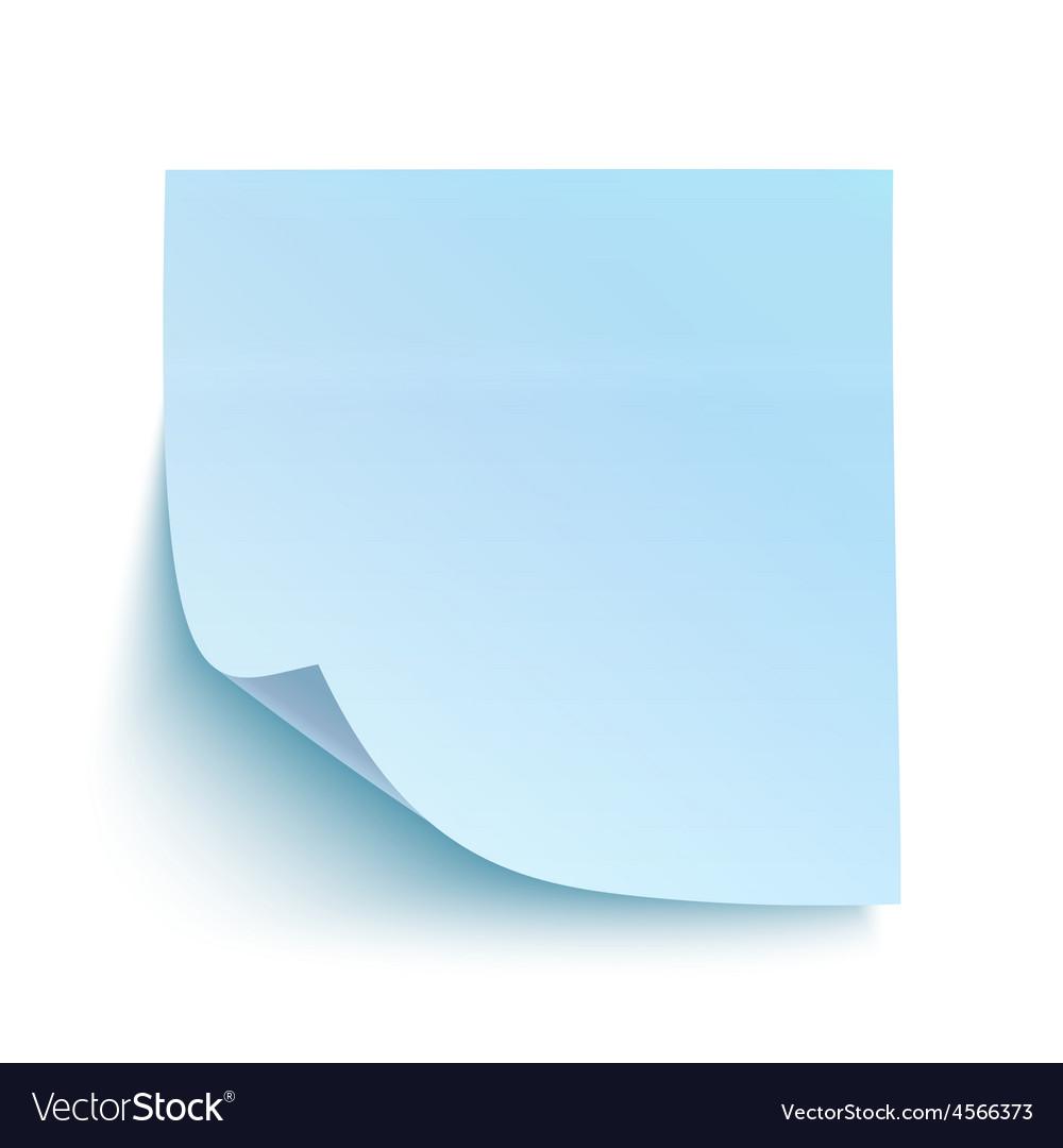 Blue sticky note vector image