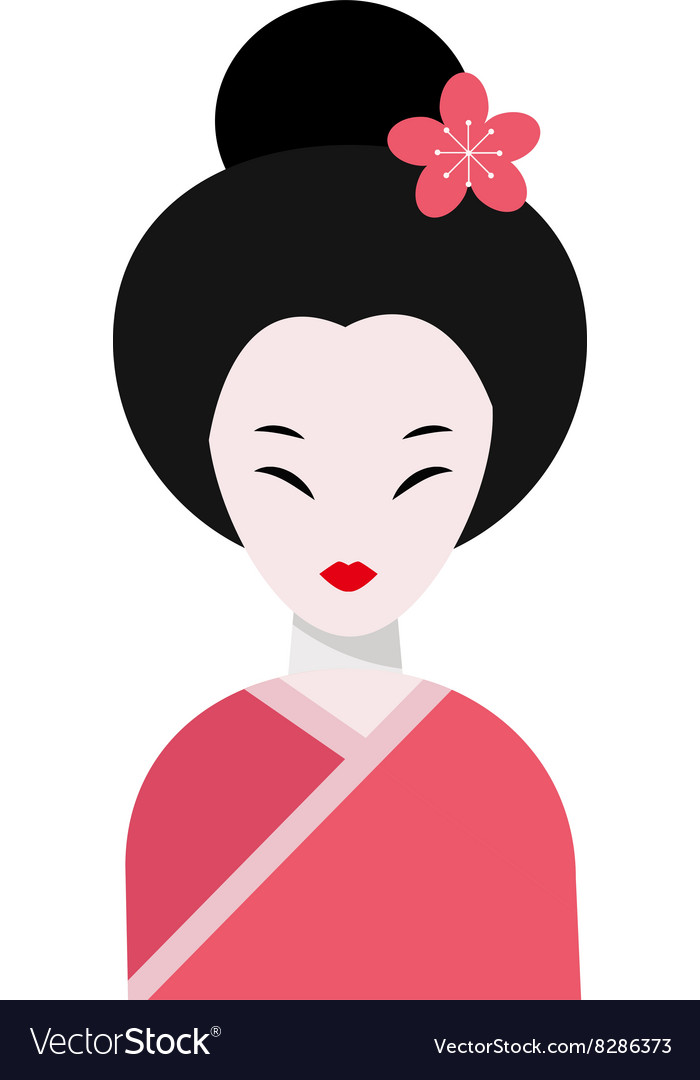 Japanese woman folk-art maiden cute kokeshi