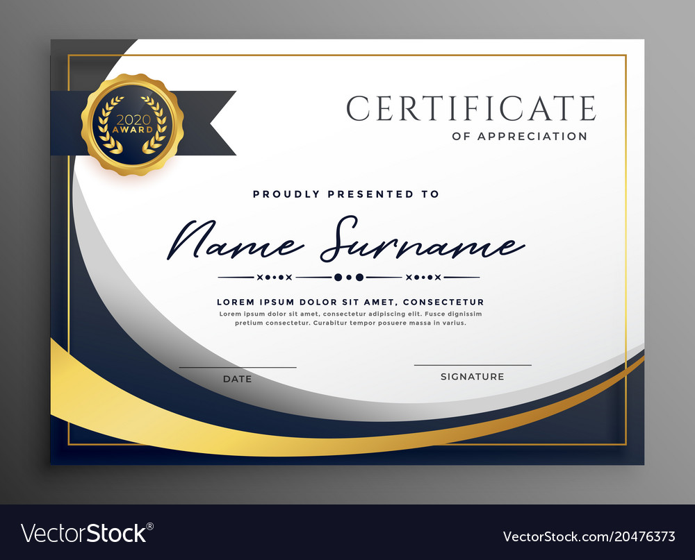 certificate template premium wavy diploma sertifikat certificado templates downloads modello plantilla vecteezy certificaat layout golvend premie malplaatjeontwerp gratis diplomas illustrazione
