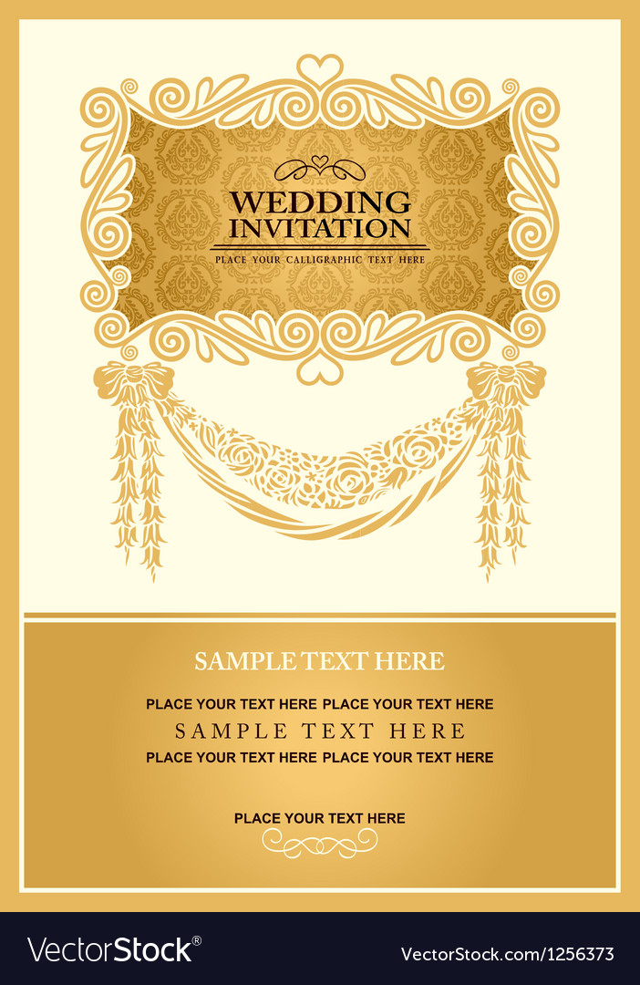 vintage background wedding invitation royalty free vector vectorstock