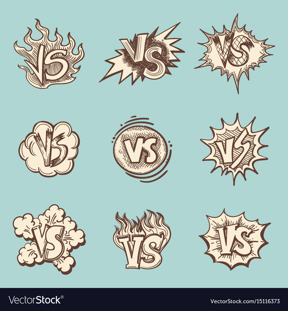 Vintage versus hand drawn labels collection vector image