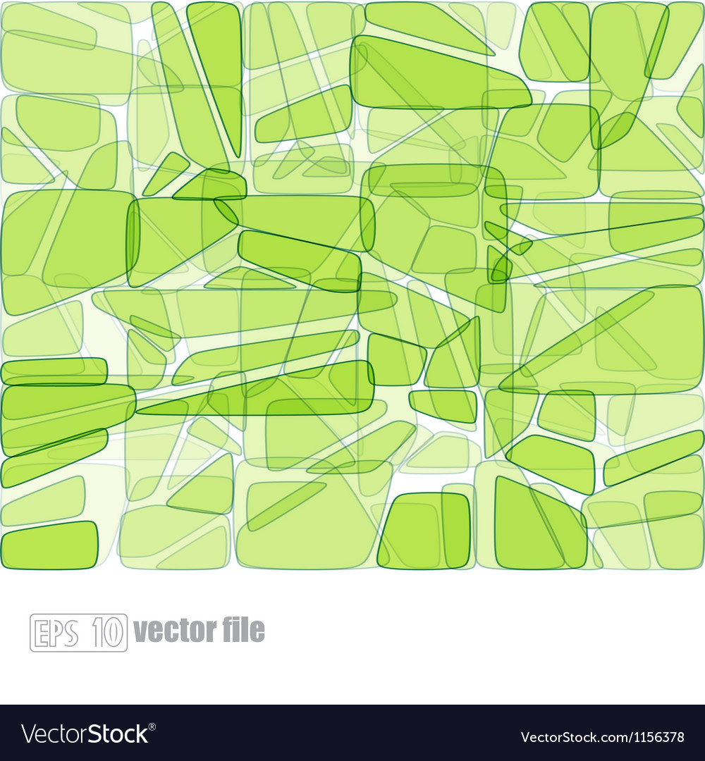 Abstract glass mosaic green