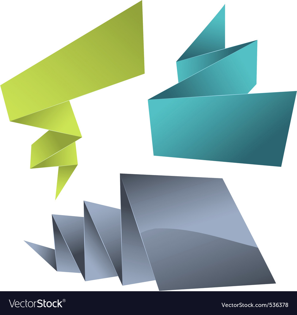 Abstract origami speech bubble vector background vector image
