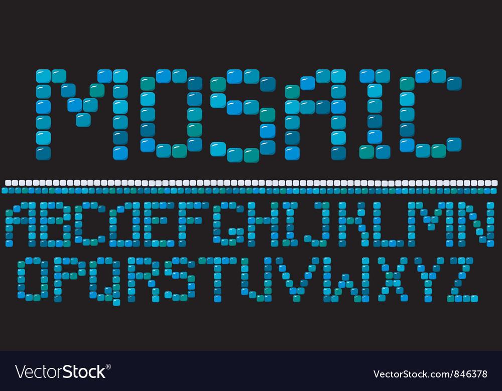 Alphabet - mosaic letters
