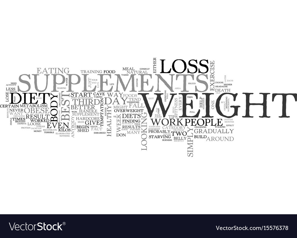 Best weight loss supplements how to find the top vector image