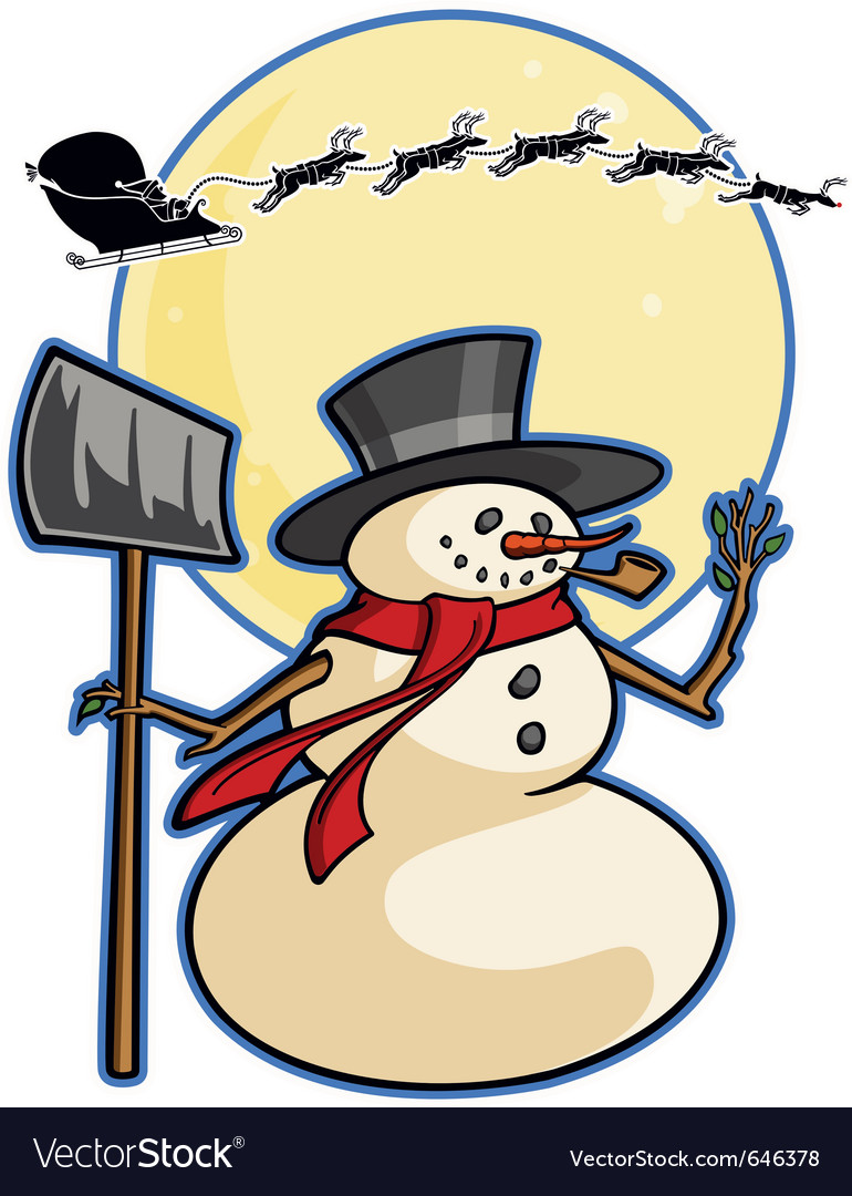 Christmas winter cartoon snowman graphic ca