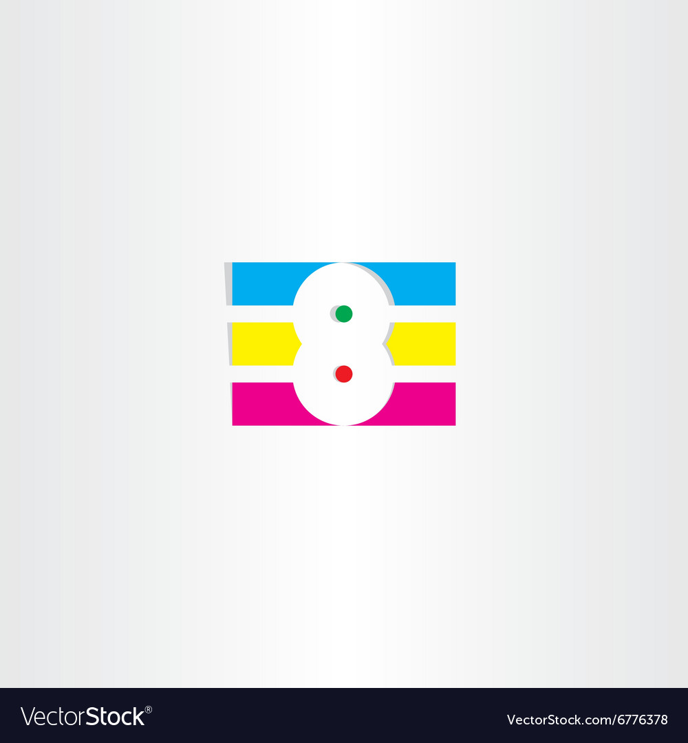 Colorful number 8 no eight logo
