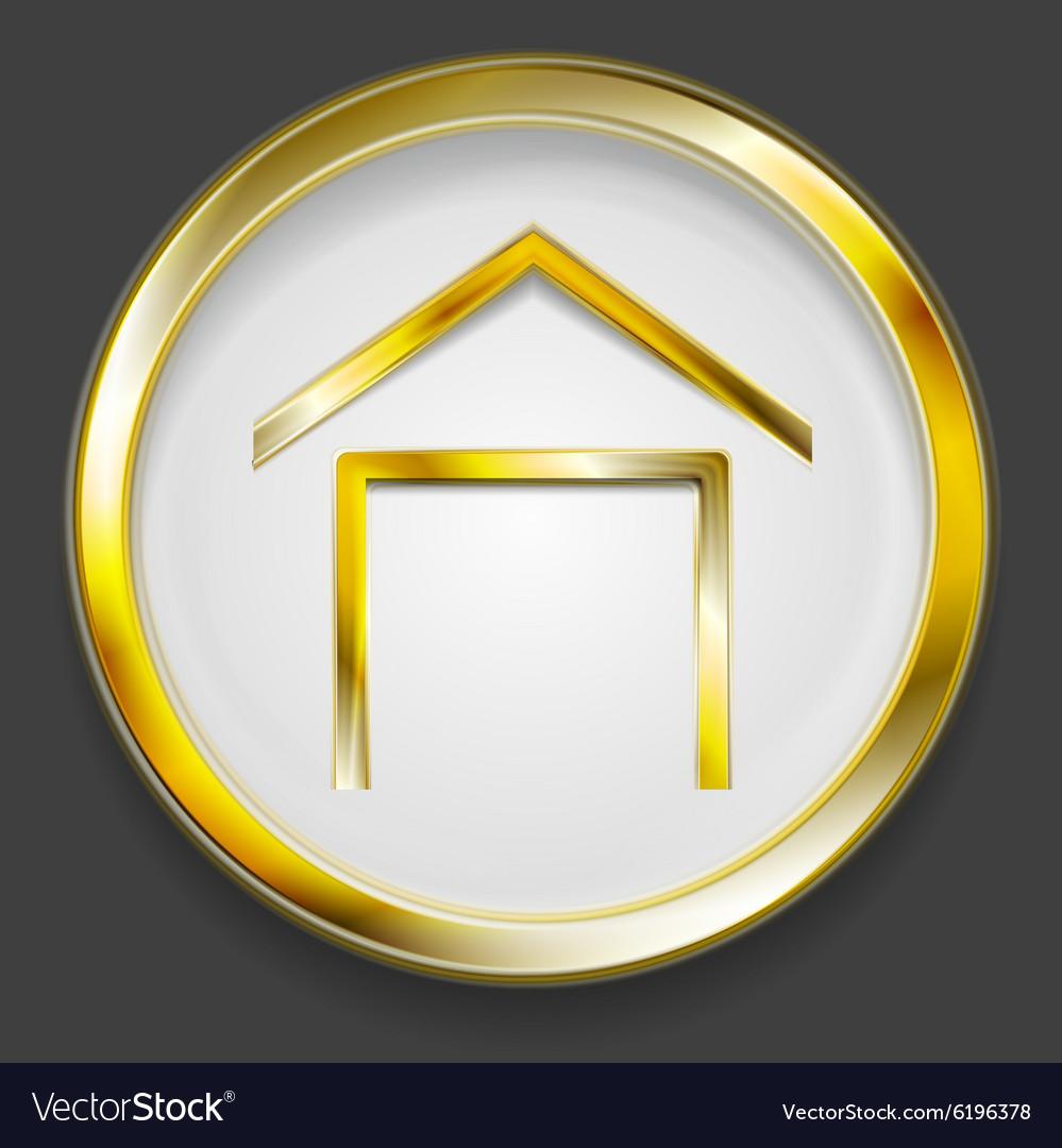 Concept golden house symbol logo
