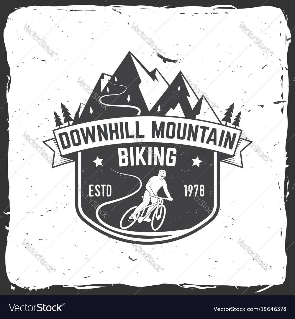 Downhill mountain biking