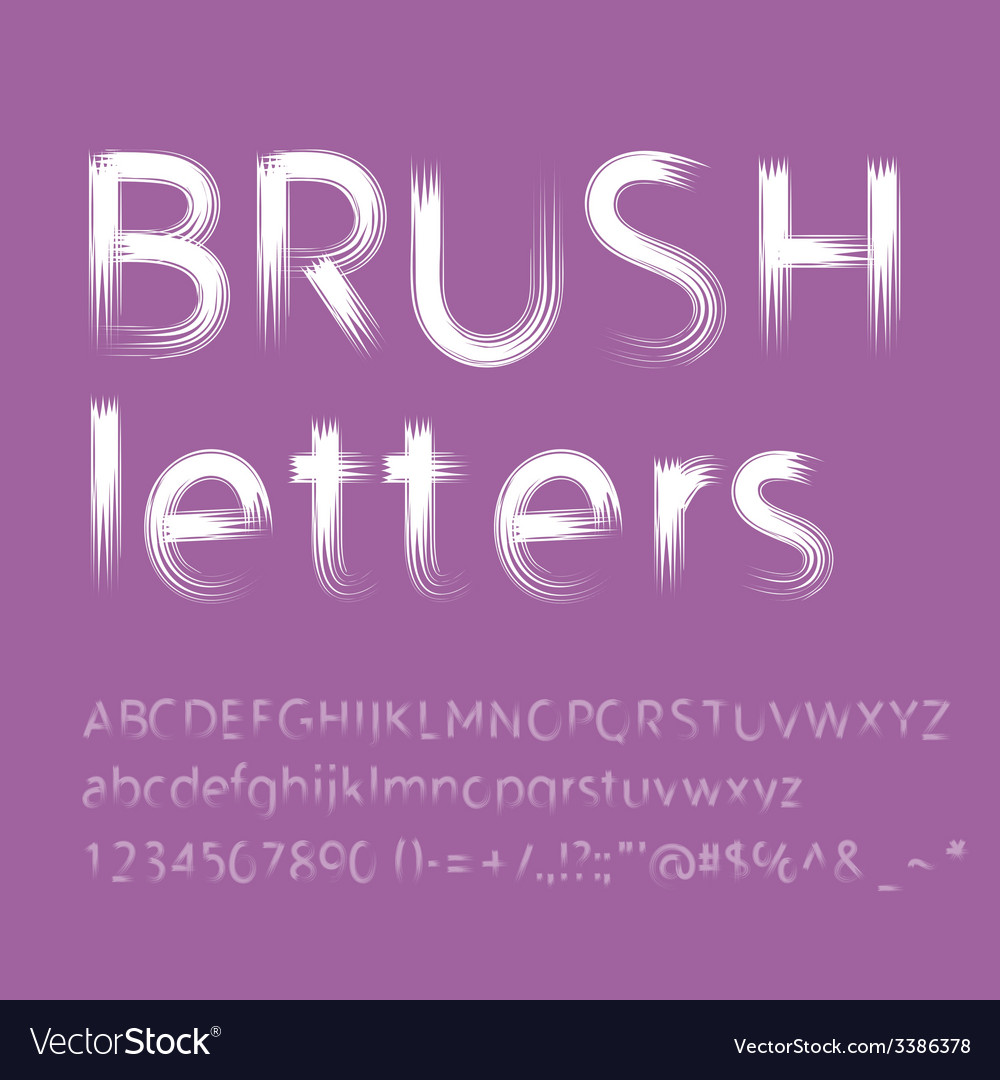 Letters painted with brush