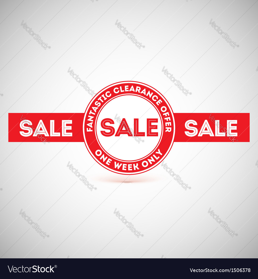 Sale offer Vintage labels design elements