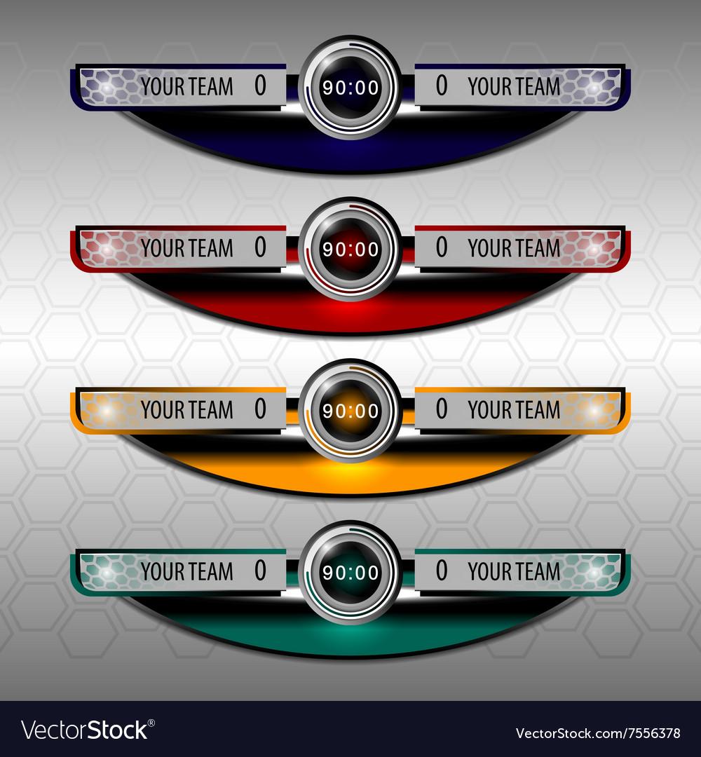 Scoreboard template vector image