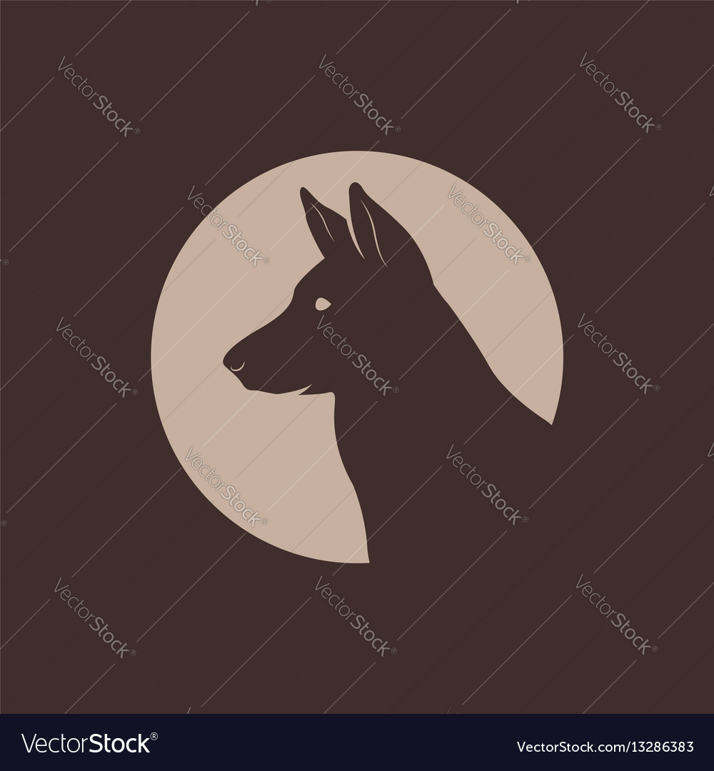 german shepherd head silhouette logo vector image on vectorstock rh vectorstock com german shepherd lego german shepherd logo for number plate