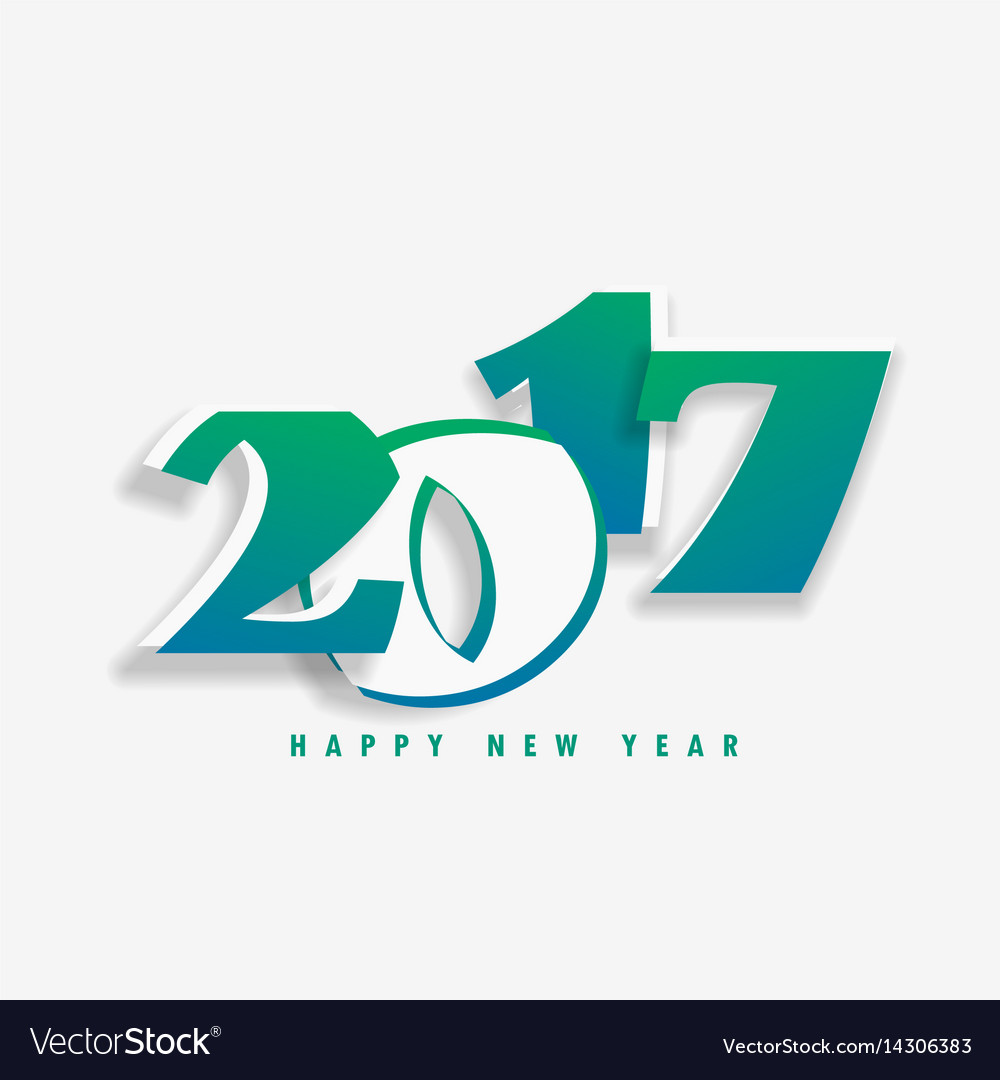 New year holiday card with 2017 text