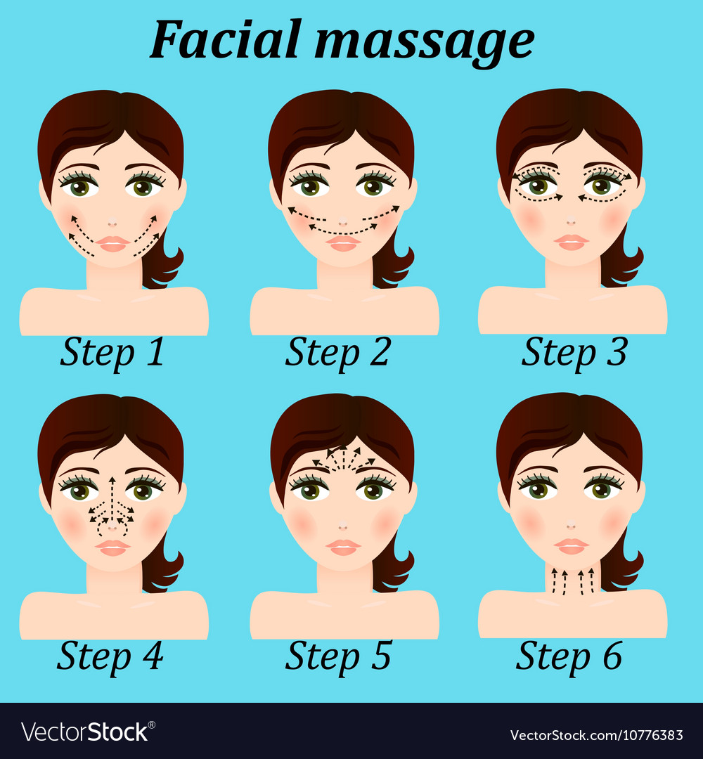 Original Trendy Girl Facial Massage Set Royalty Free Vector