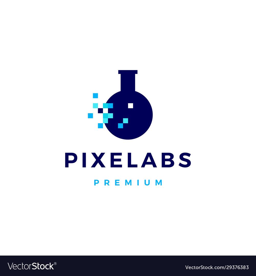 Pixel labs digital logo icon