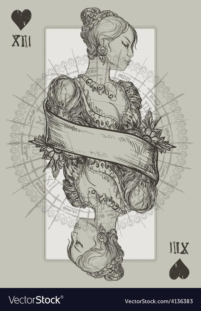 Queen Heart vector image