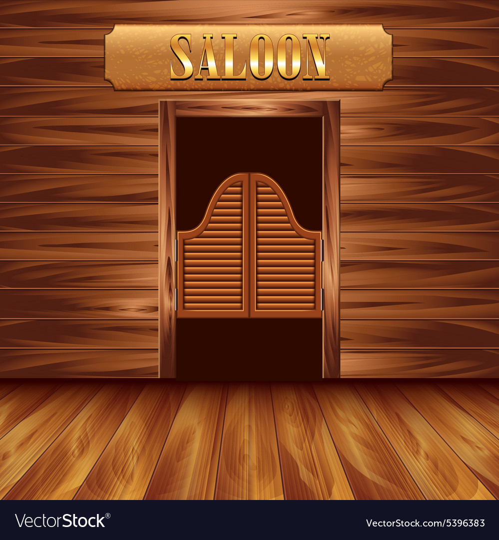Swinging Doors Of Saloon Western Background Vector Image