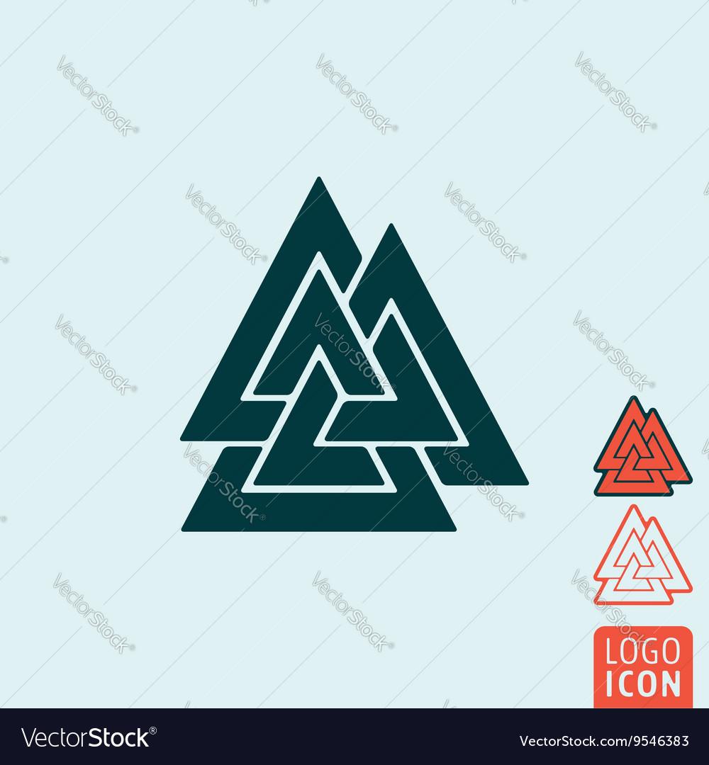 Valknut icon isolated