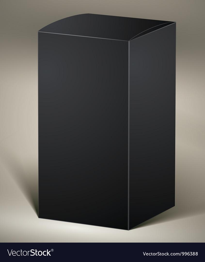 Black pack vector image