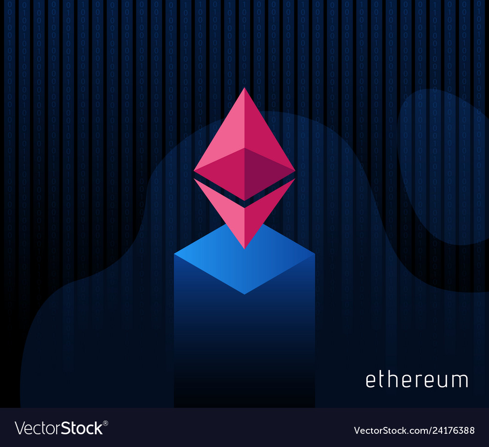 Digital currency ethereum criptocurrency chrystal