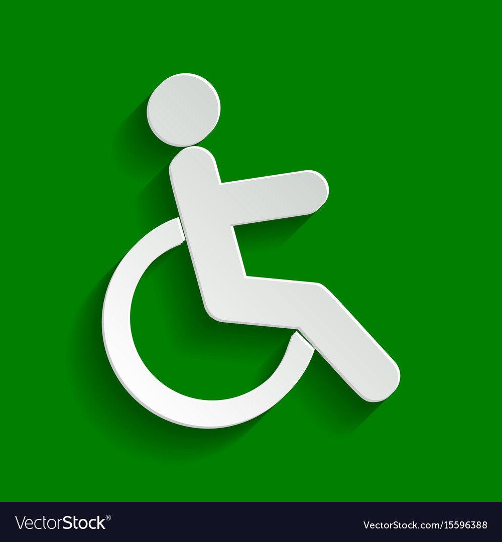 Disabled sign paper whitish