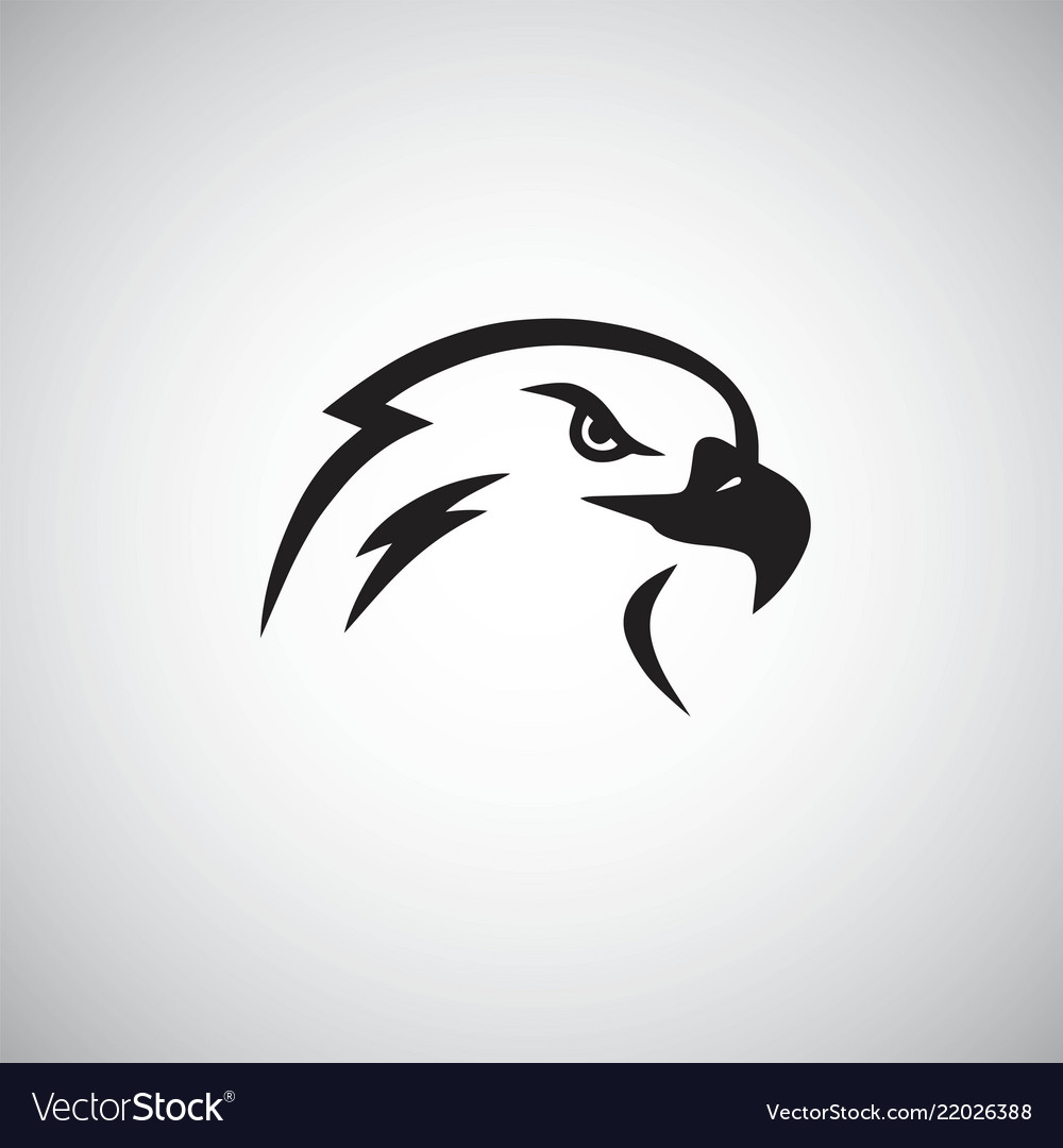 Eagle logo mascot template simple
