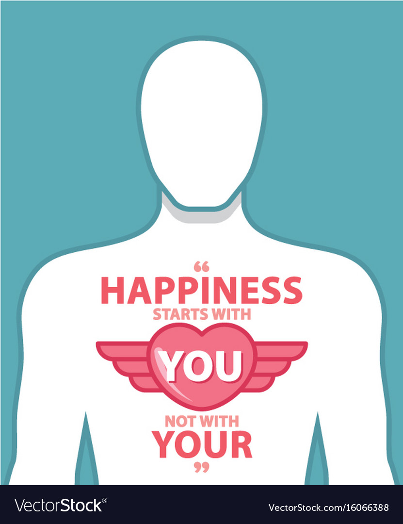Happiness Quotes Royalty Free Vector Image Vectorstock