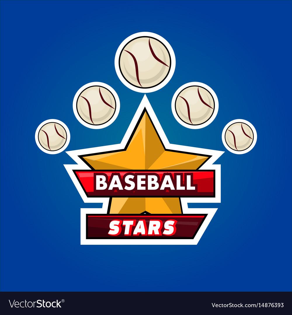 Baseball stars emble
