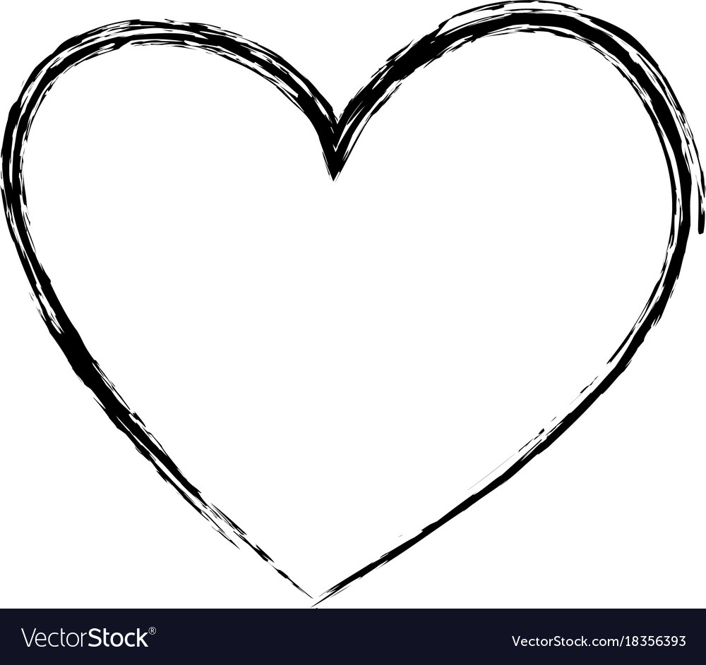 Heart Drawing brush drawing heart love romance passion vector image on vectorstock