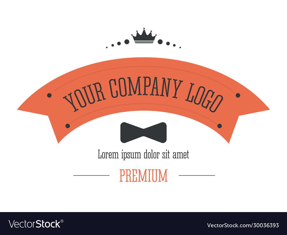 Business logo corporate identity in retro style