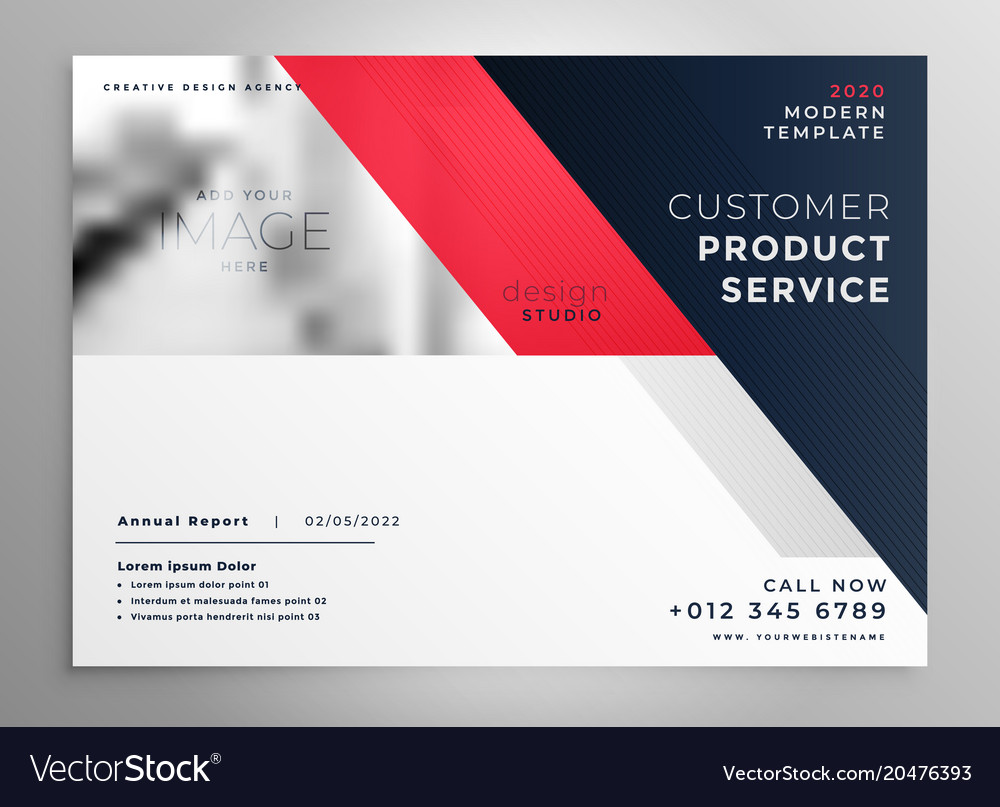 Creative modern business flyer design template vector image accmission Choice Image