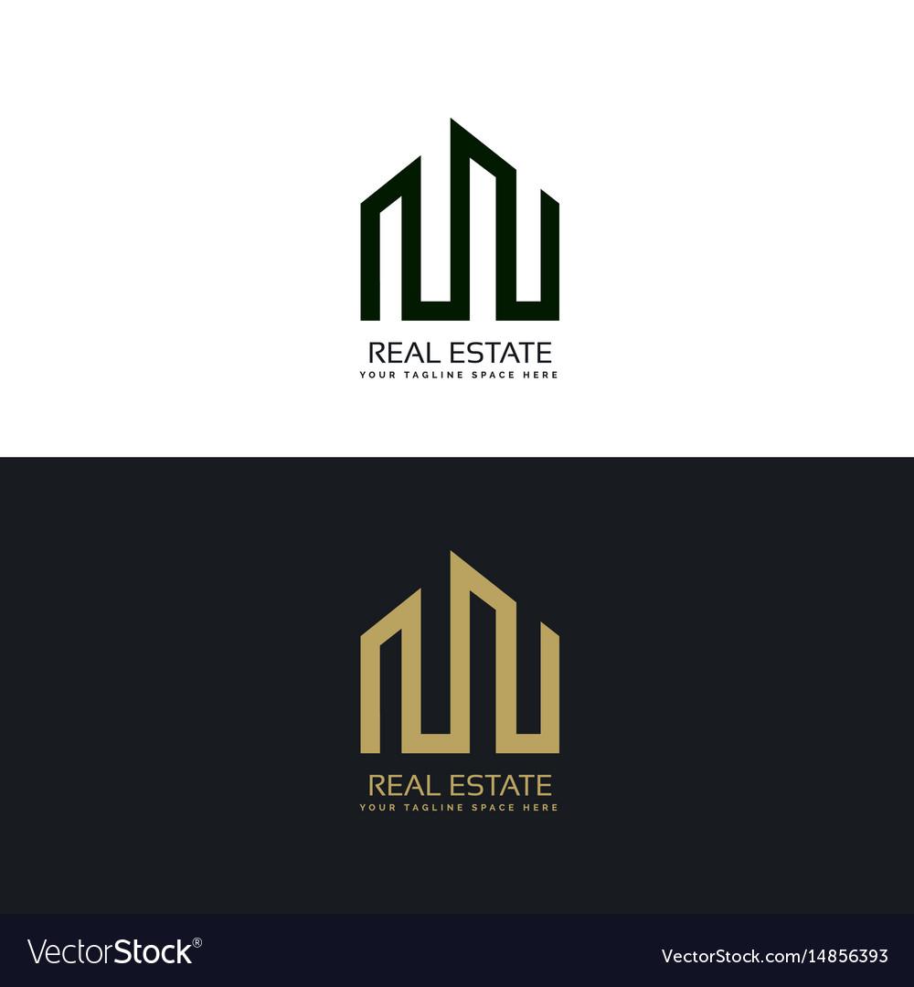 Creative Real Estate Business Logo Design Template Vector Image