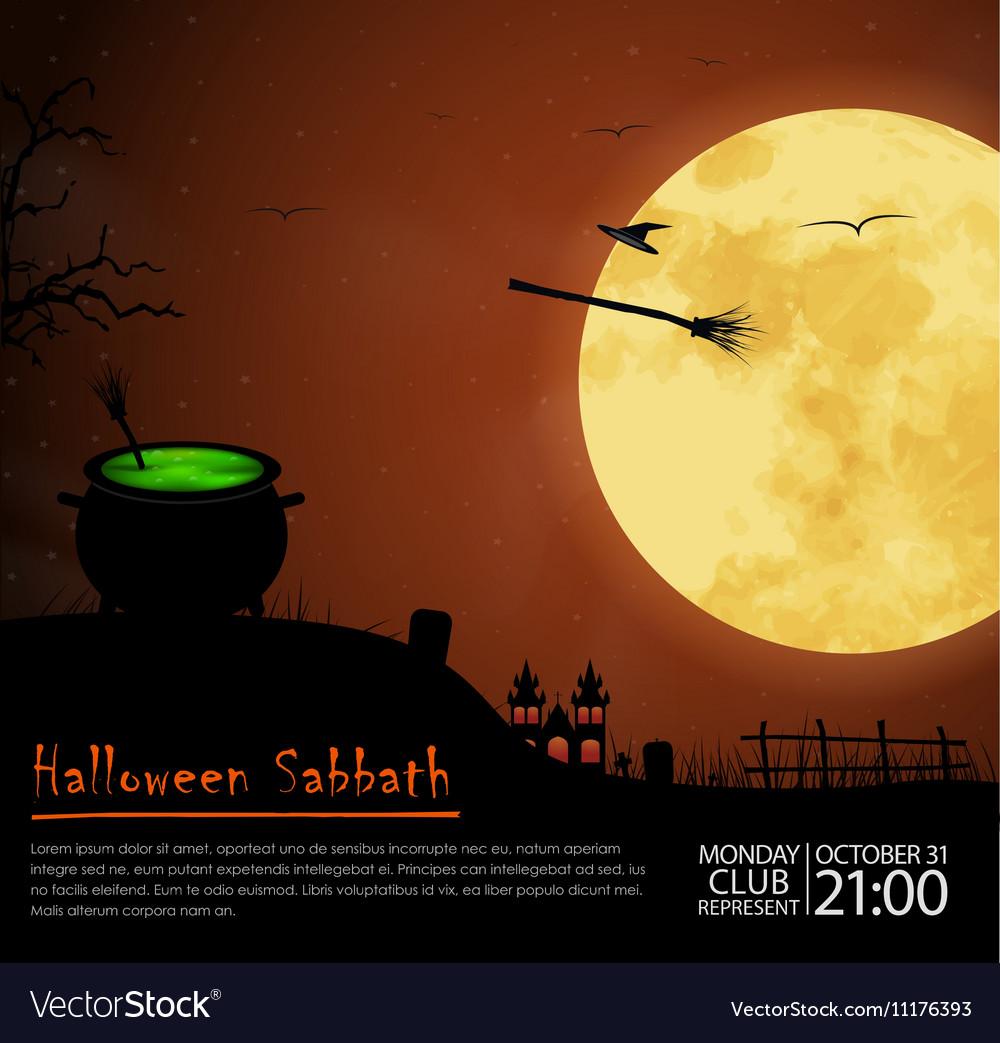 Design posters Halloween parties