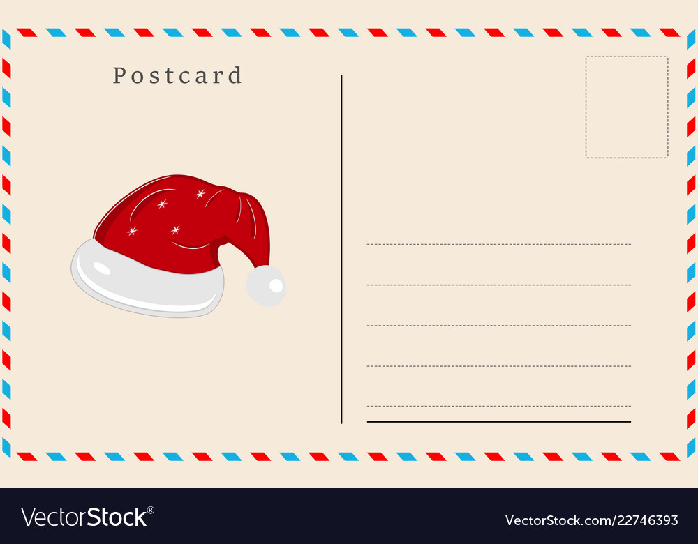 Merry christmas holiday postcard background
