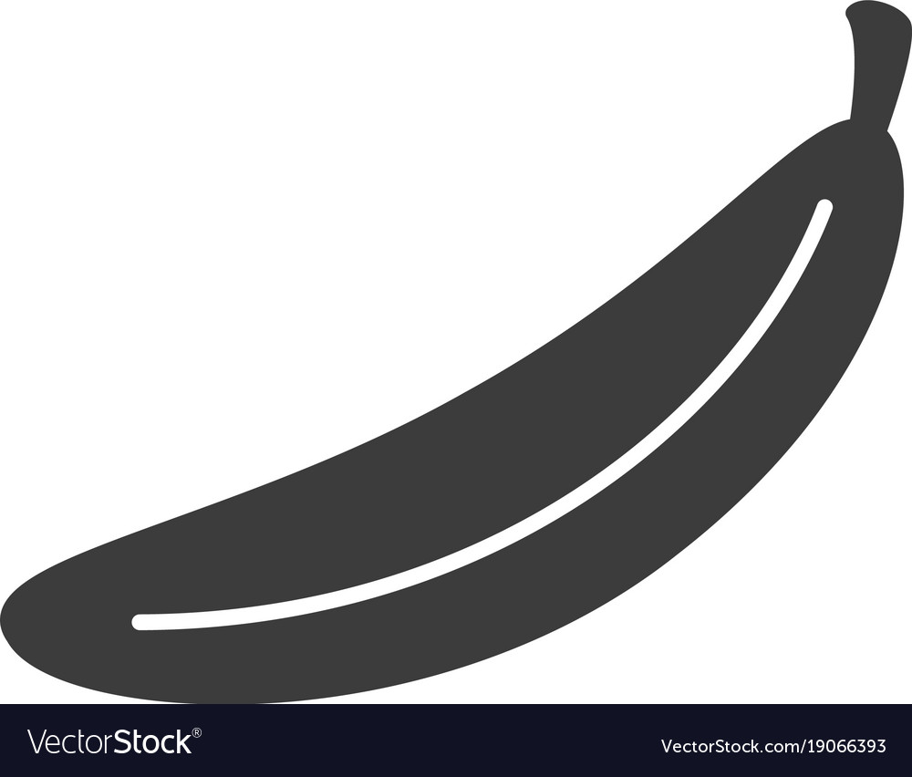 Monochrome isolated banana icon on white