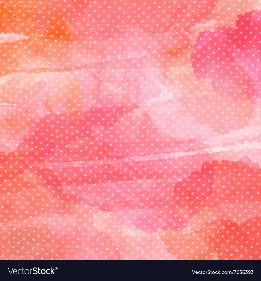 Polka dot watercolor background 1401 vector image