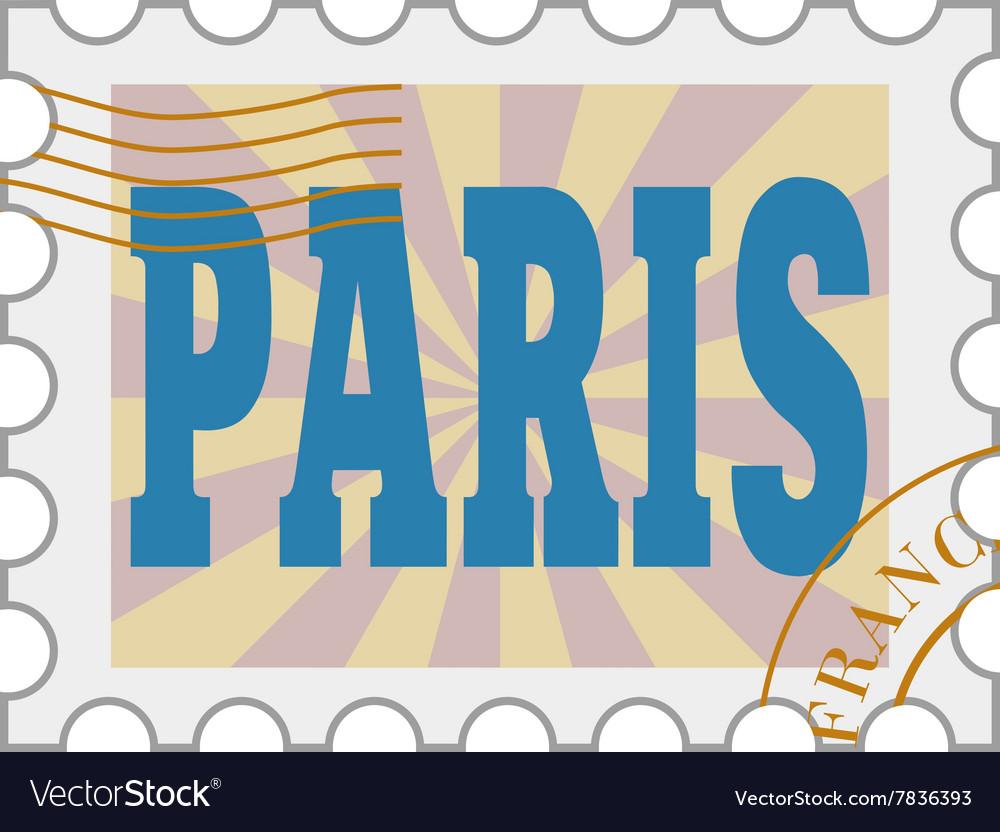 Post stamp of Paris