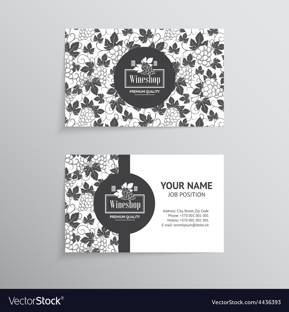 Set of business cards templates for wine company vector image cheaphphosting Images