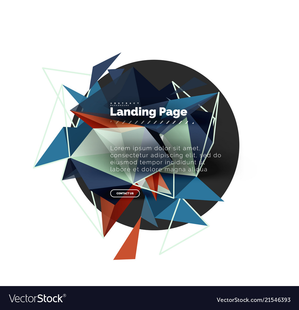 Triangular design abstract background landing