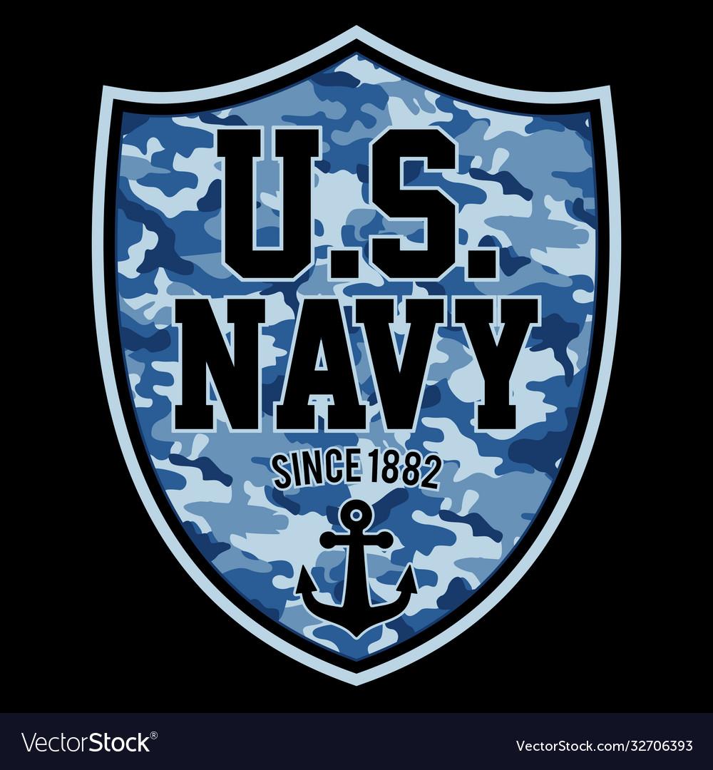 Us navy since 1882 shield