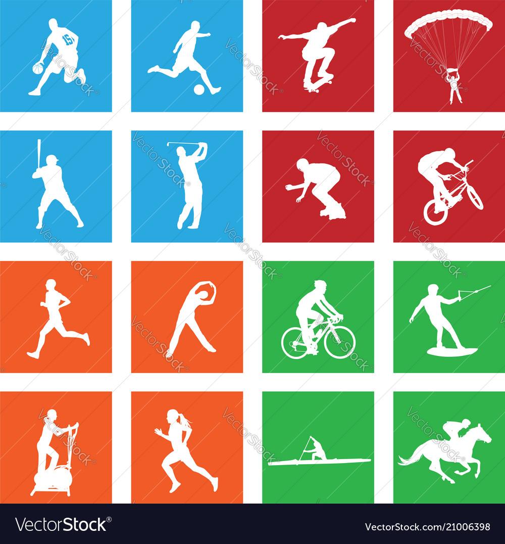 16 simple sport icon