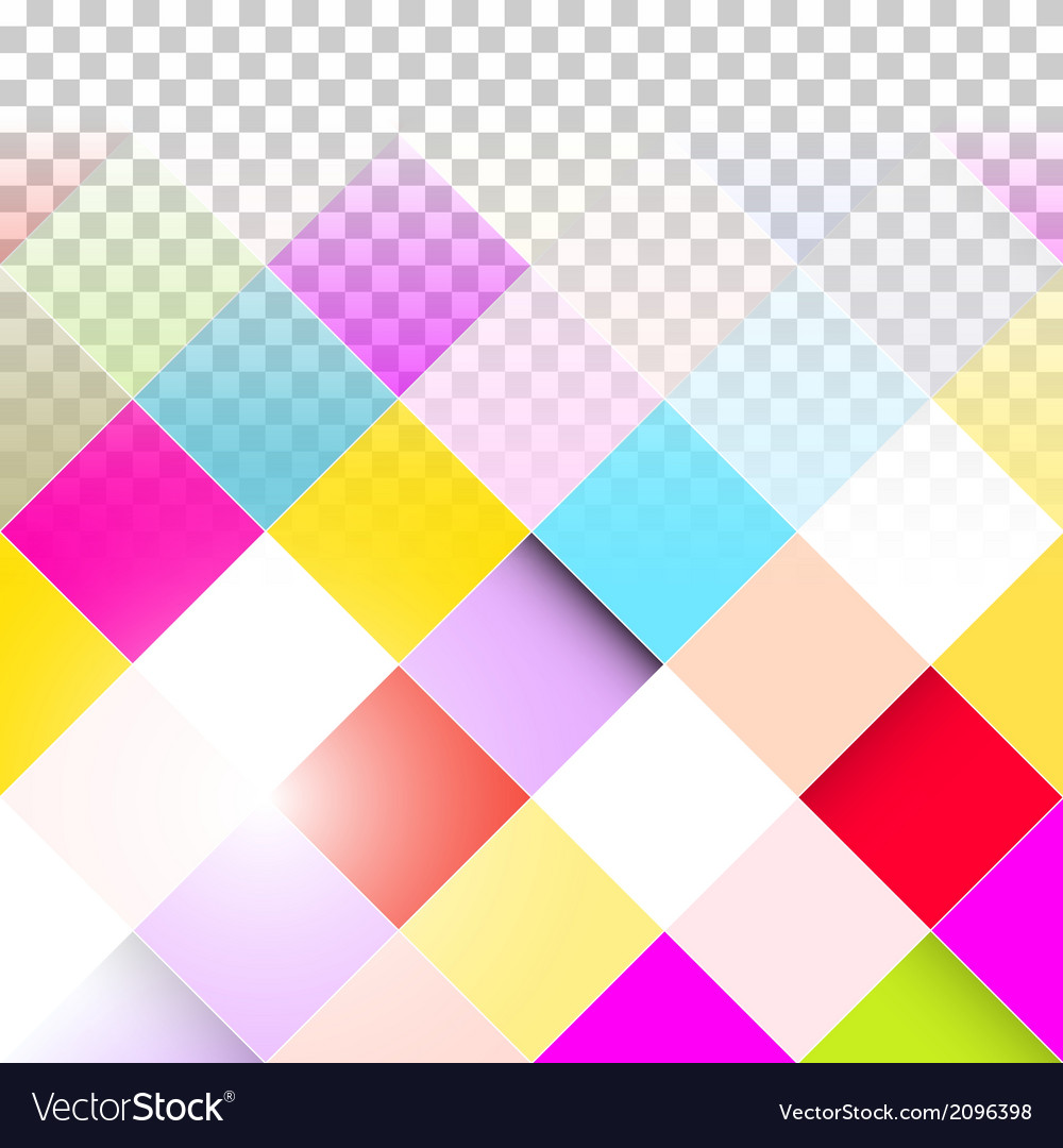 Abstract Background Transparent Colorful Squares