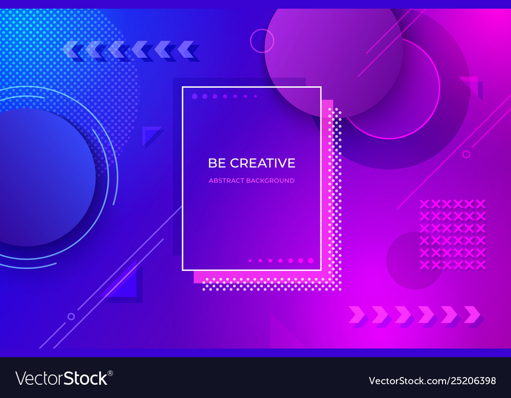 Abstract geometric background futuristic gradient