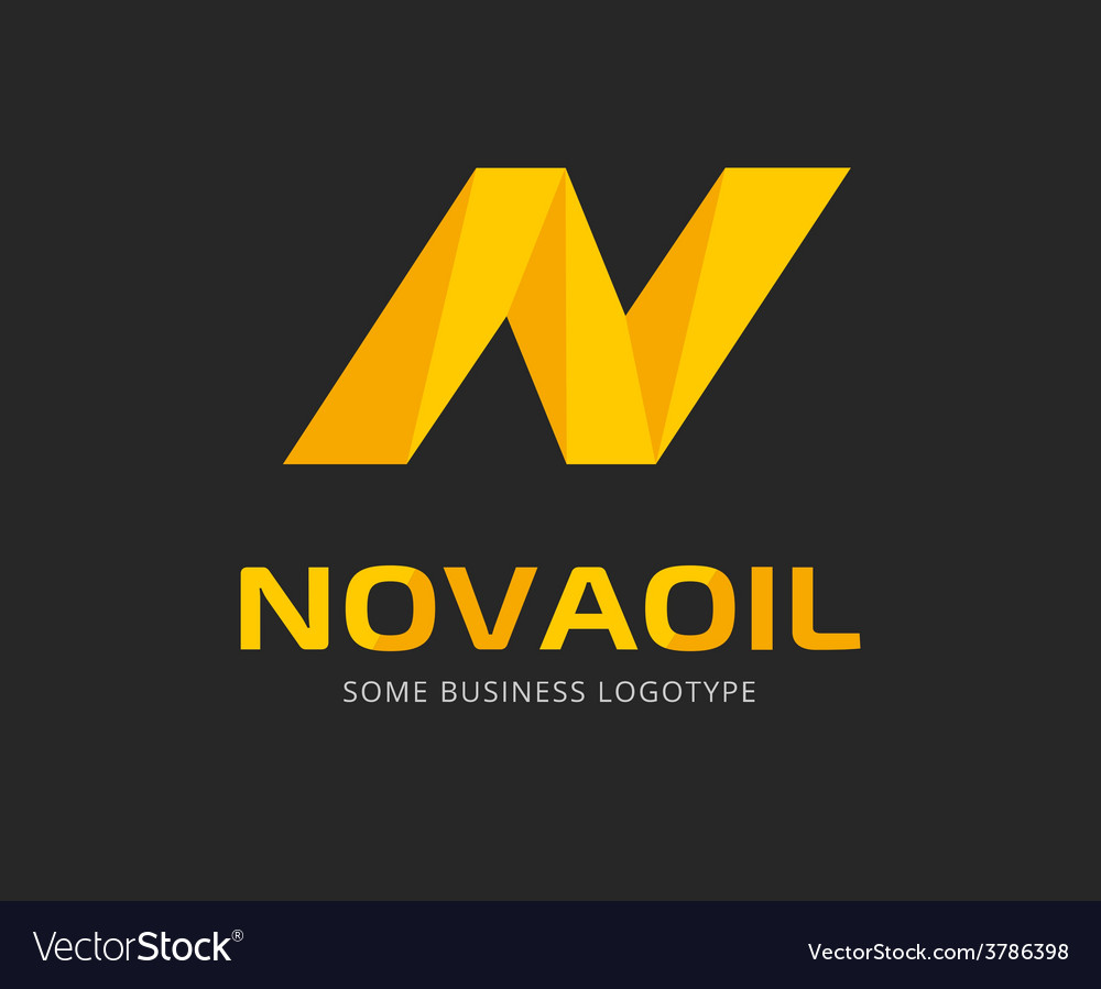 Abstract N letter logo template for