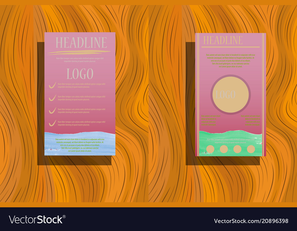 Brochure annual report flyer design templates in vector image