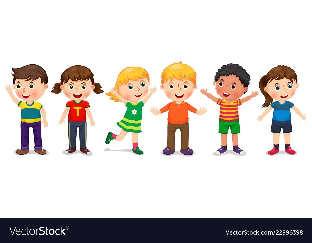 Children in different positions