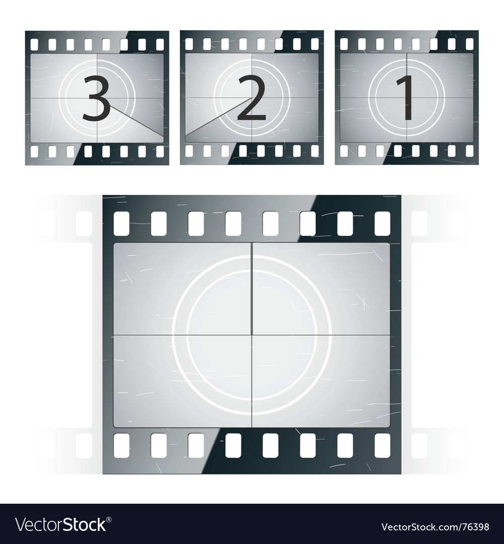 Film strip countdown vector image