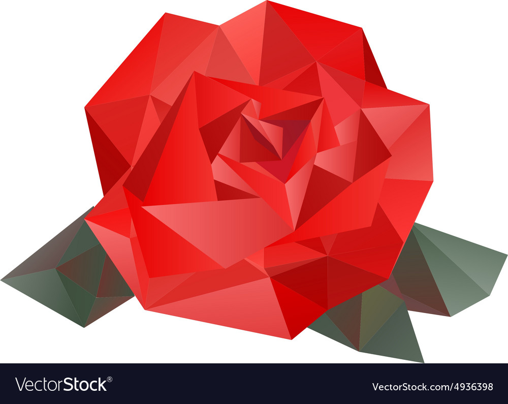 geometric rose royalty free vector image vectorstock rh vectorstock com rose vectorielle rose vector art